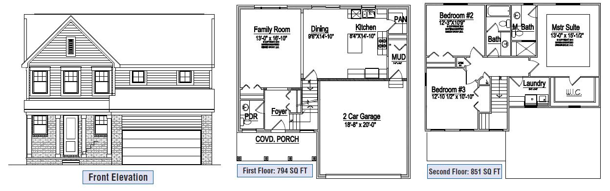 Floor Plan A - Macomb Custom Home